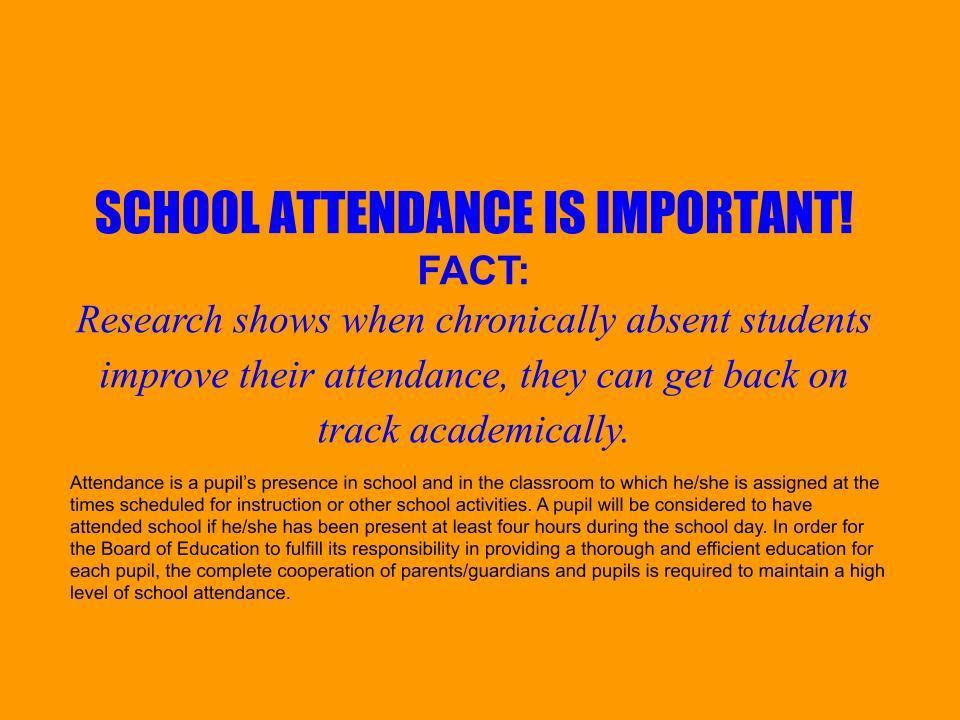 February Attendance Message