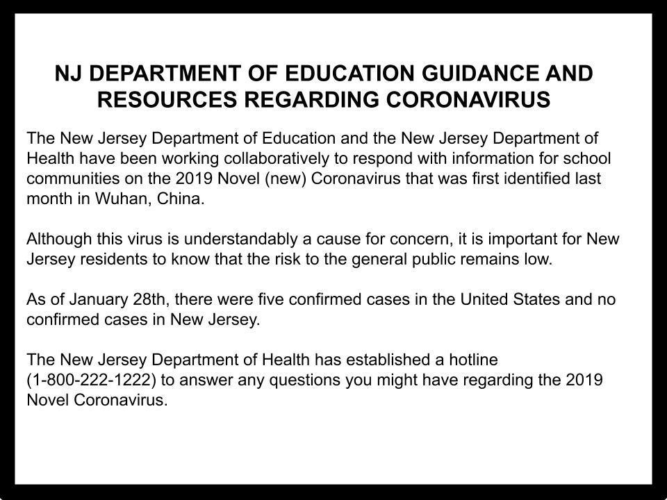 Information Regarding the Coronavirus